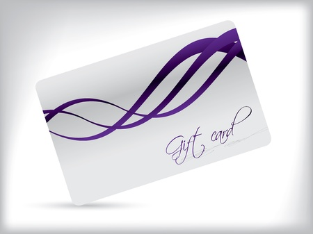 Simple gift card design with purple waves