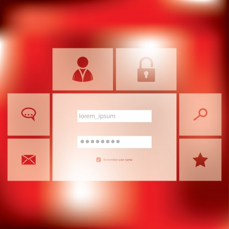 Stylish new login screen design with flat buttons Vector
