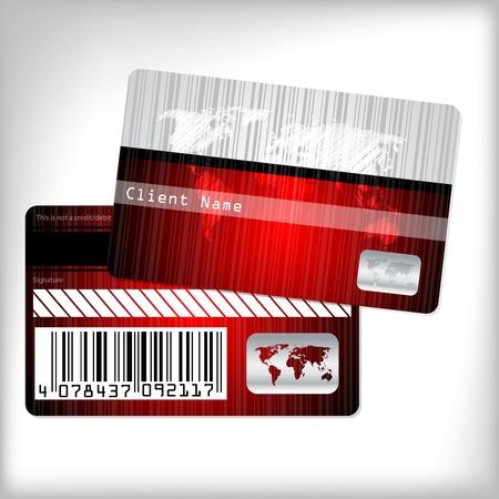 クライアント: ストライプの世界地図で忠誠カード デザイン
