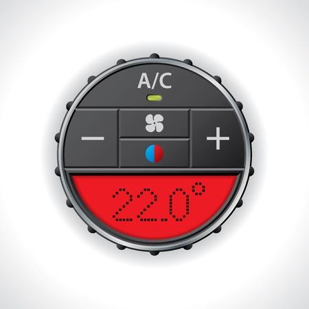 Airconditioning meter met grote rode scherm
