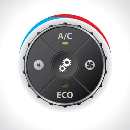 miernik: Wskaźnik Klimatyzacja bez wyświetlacza LED Ilustracja