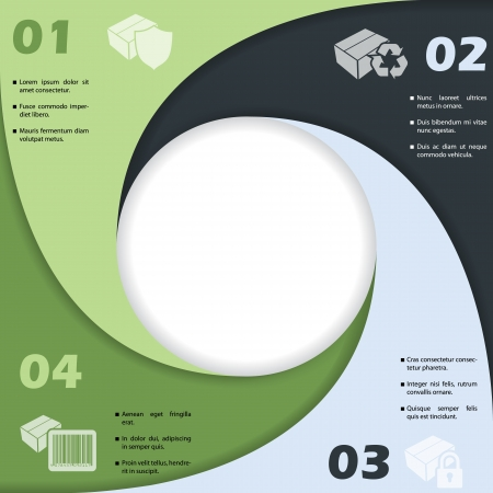 Circle shaped infographic design. Vector