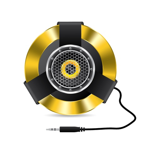 surround: Cool speaker design with jack plug and cable