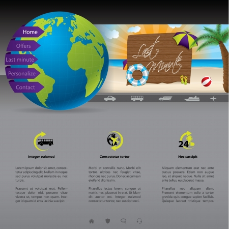 Nice website template with last minute offer Vector