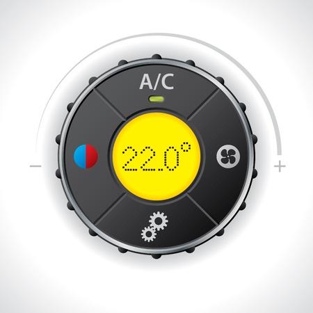 conditioning: Aire acondicionado con indicador luminoso LED amarillo Vectores