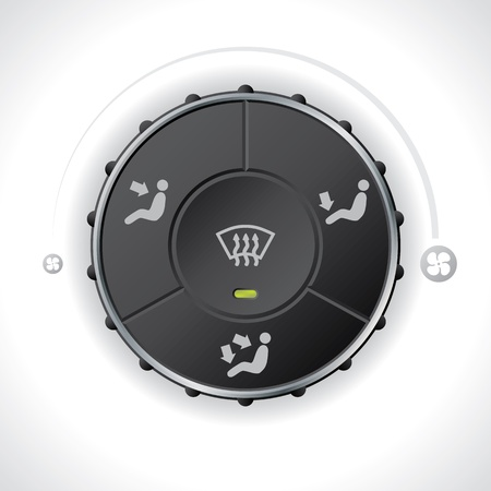 recirculate: Air flow controller gauge for cars and automobiles Illustration