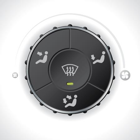 air flow: Misuratore regolatore di portata d'aria per auto e autoveicoli Vettoriali