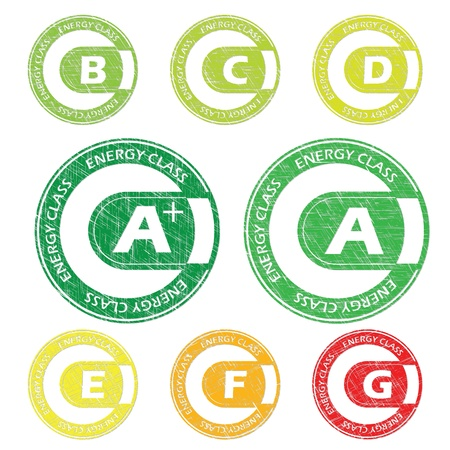 directiva: Sello Clase energ�tica ajustar de A a G