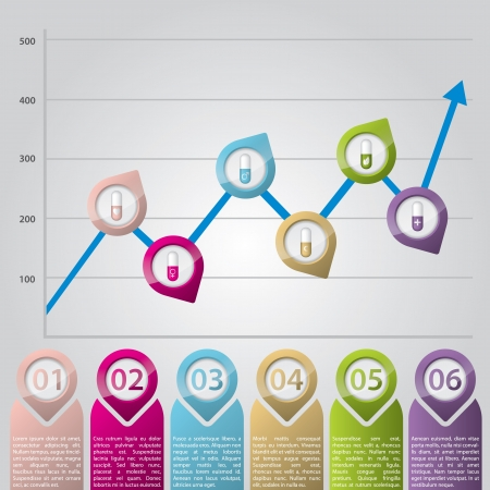 Infographic chart with color pointers ideal for advertisements Vector