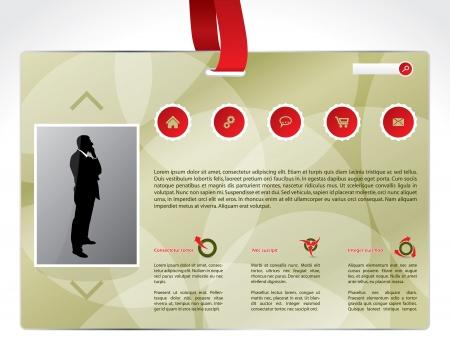 lanyard: Website identidad de negocios de dise�o de plantilla con cord�n rojo