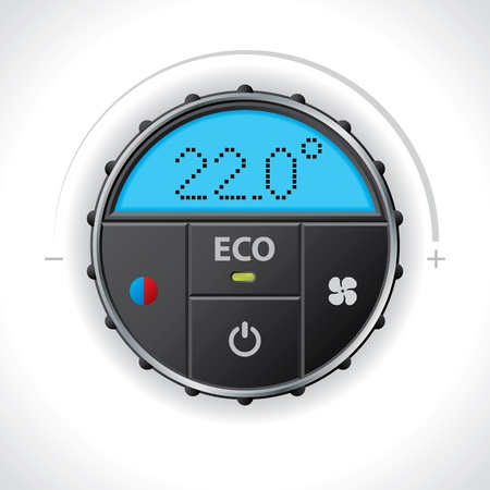 Climatronic gauge design with multiple functions and icons