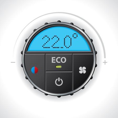 Climatronic gauge ontwerp met meerdere functies en iconen