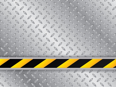 hazard stripes: Abstract metallic plate background with striped industrial line