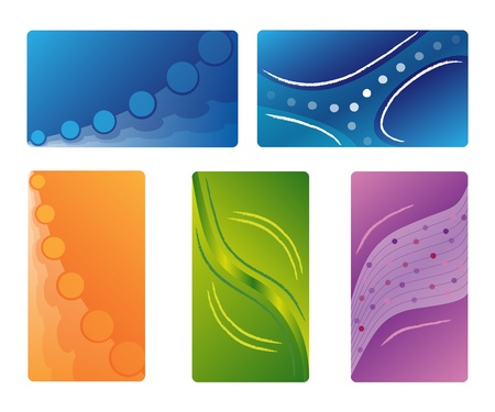 dodger: Various new business card  Illustration