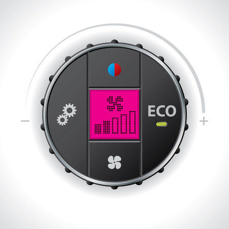 recirculate: Car ac control with options and lcd display Illustration