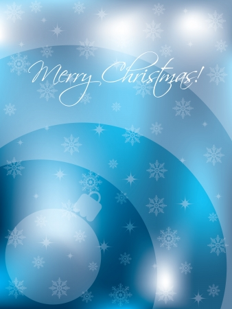 newyear card: Abstract christmas card design with waves, decoration and snow Illustration
