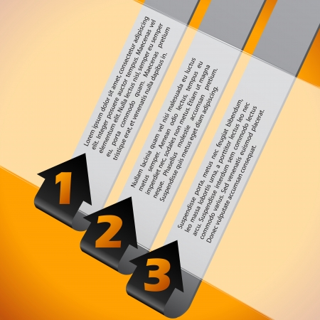 Infographic background design set with numbered options Vector