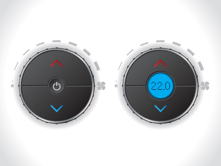conditions: Climate control with and without lcd on white background