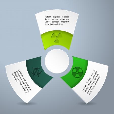 bio hazard: Infographic design with bio hazard labels and descriptions