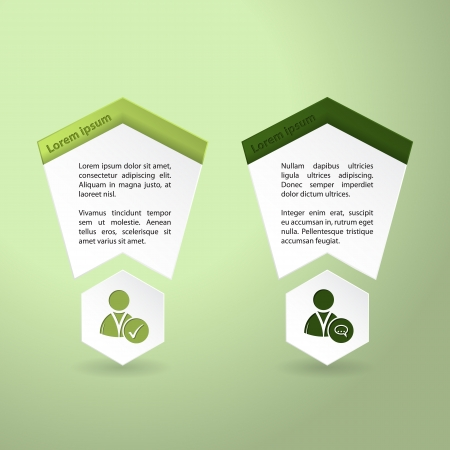 Infographics design in green tones with social network icons Vector