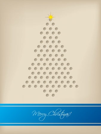 Cool christmas card design with tree shaped dots and blue stripe cool christmas card design with tree shaped dots and blue stripe stock vector 24021787 m4hsunfo