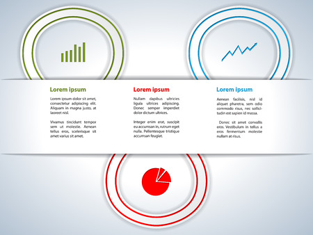 ribon: Cool new infographics background with ribbons and icons
