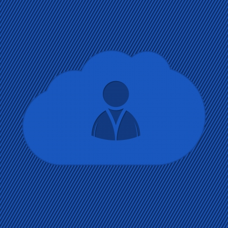 Cloud network icon with striped blue background Vector