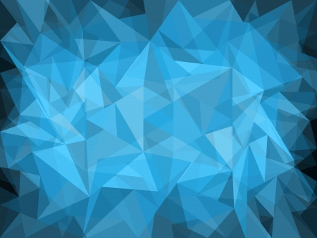 diamond shaped: Abstract blue background design with light and dark polygons