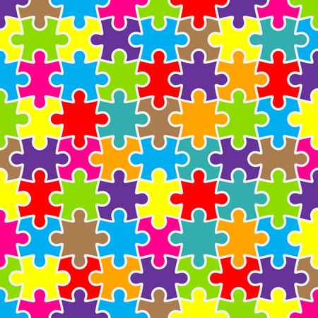 Abstracte puzzel achtergrond ontwerp met kleurrijke stukken