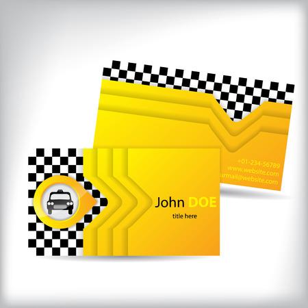 chauffeurs: conception de carte de visite avec l'ic�ne de la voiture pour les conducteurs de taxi