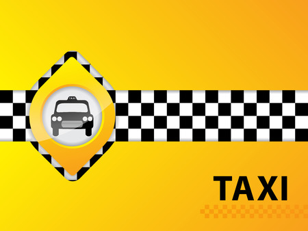 Abstract taxi background design with checkered stripe Vector