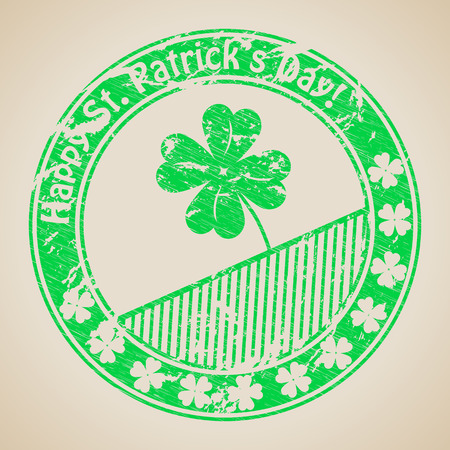 St Patricks day grunge rubber stamp design Vector
