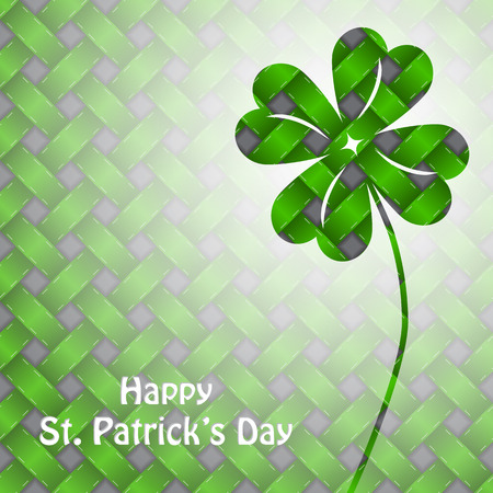 St patricks day background design with green elements Vector