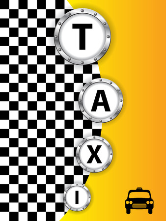 Abstract taxi background design with metallic rings Vector