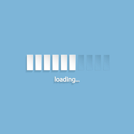 screen type: Flat loading screen with light blue background Illustration