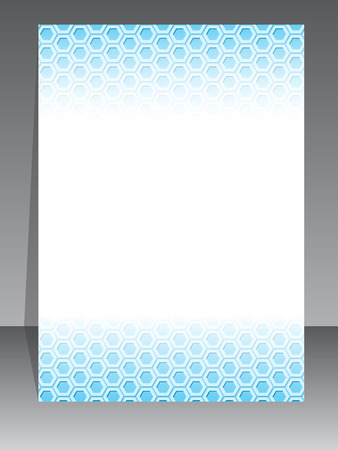 simplistic: Simplistic brochure design with blue pattern background