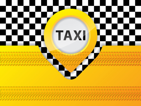 treads: Taxi background design with tire treads, ideal for advertisements
