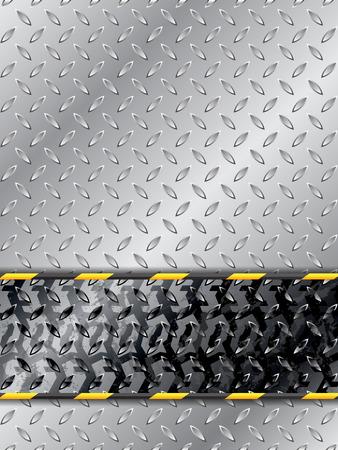 rodamiento: Resumen de antecedentes laborales con neumáticos de pista y la barrera de rayas Vectores
