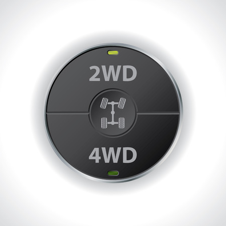 2wd and 4wd button switches for trucks Illustration