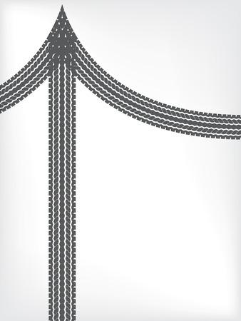 Tire brochure background design with arrow shape Vector