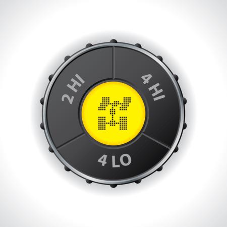 차동 잠금 장치와 LED 디스플레이 4 × 4 스위치