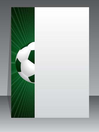 bannière football: Sooccer conception de la brochure à thème avec l'éclatement balle