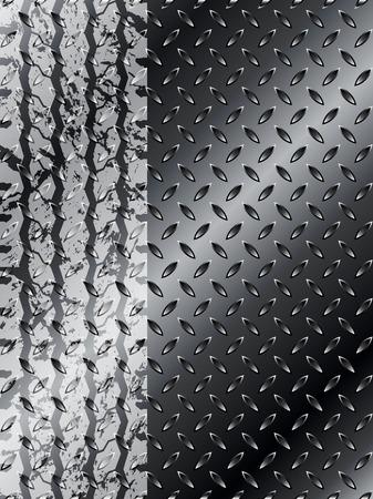 rodamiento: Neumáticos Grunge diseño de folletos con fondo de acero negro
