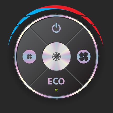 recirculate: Air conditioning gauge with metallic elements in black