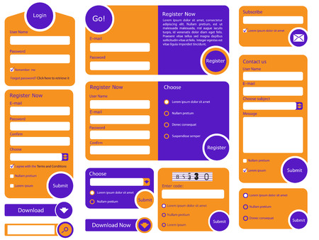 flad: Web form with trendy flat design and vivid colors