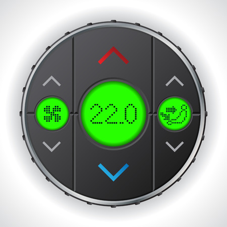 condition: Air condition gauge with triple green lcd display