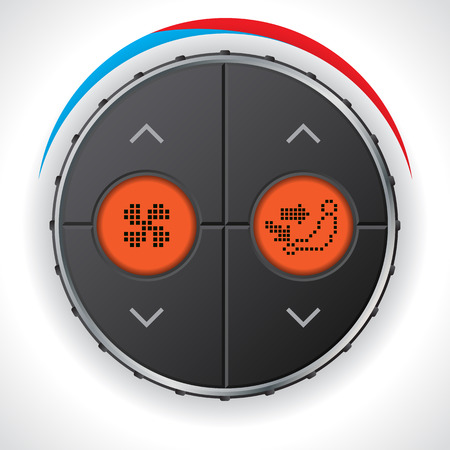 ventilation: Air condition gauge with dual orange lcd display Illustration