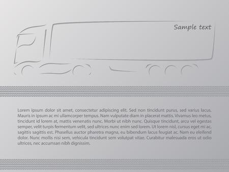 advertisement: Truck Anzeige Wallpaper Design mit Platz f�r Text