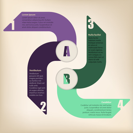 Cool infographic design with text on arrows Vector