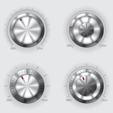 power switch: Cool metallic volume controllers with different designs